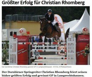 Grösster Erfolg für Christian Rhomberg
